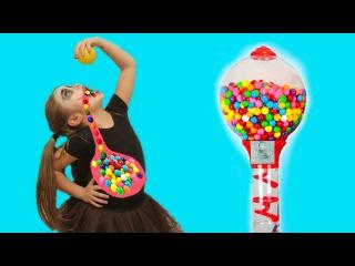 Bad Baby Вредные Детки съели Много Жвачки Джокер Giant Dubble Bubble Gumball Machine Candy Joker