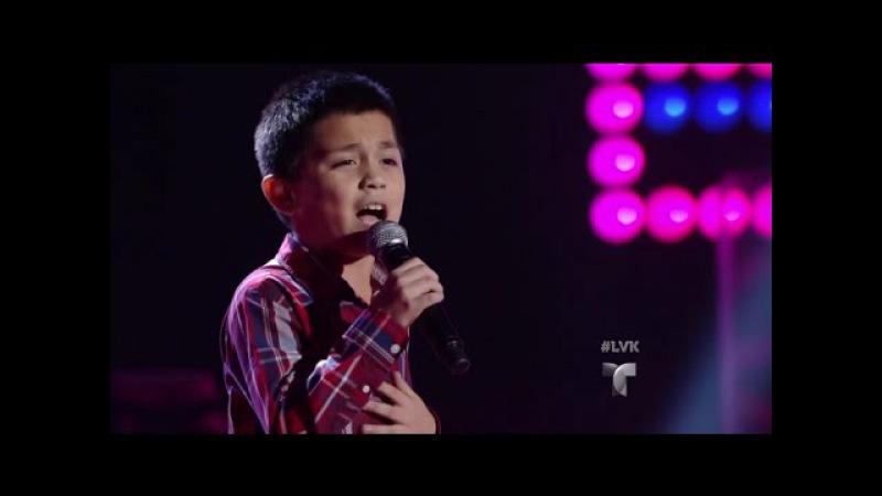 Joel Treviño canta 'No Me Dolió   Audiciones   La Voz Kids 2016