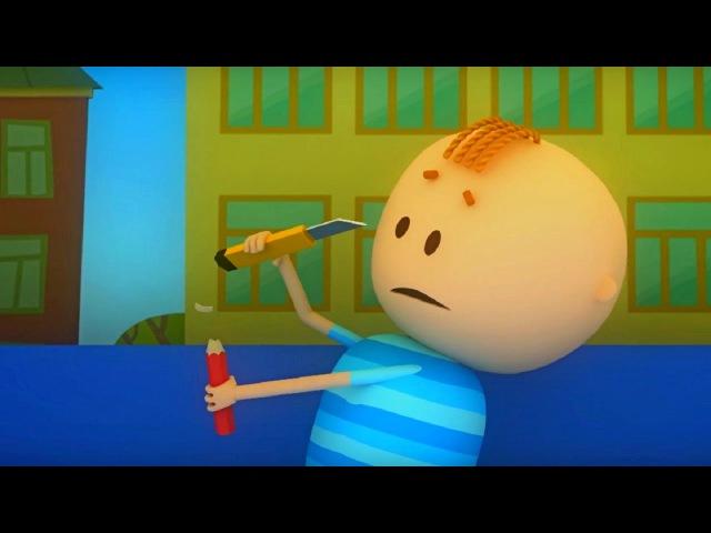 Аркадий Паровозов спешит на помощь Почему карандаши лучше точить точилкой мультфильм детям