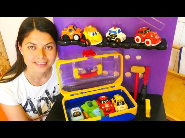 Aslı ile oyuncak kreşi! Arabalar renkler ve şekiller öğreniyor. 🚗🚕🚙eğiticivideo
