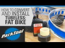 How to Convert Install Tubeless Tires on Fat Bikes
