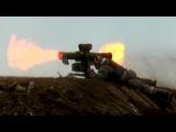 Ukrainian Fagot ATGM hits a PRO Russian tank