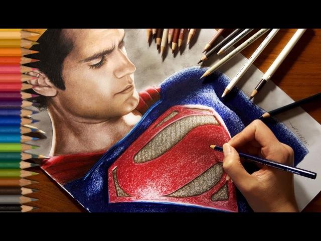 Speed Drawing: Superman - Henry Cavill   Jasmina Susak