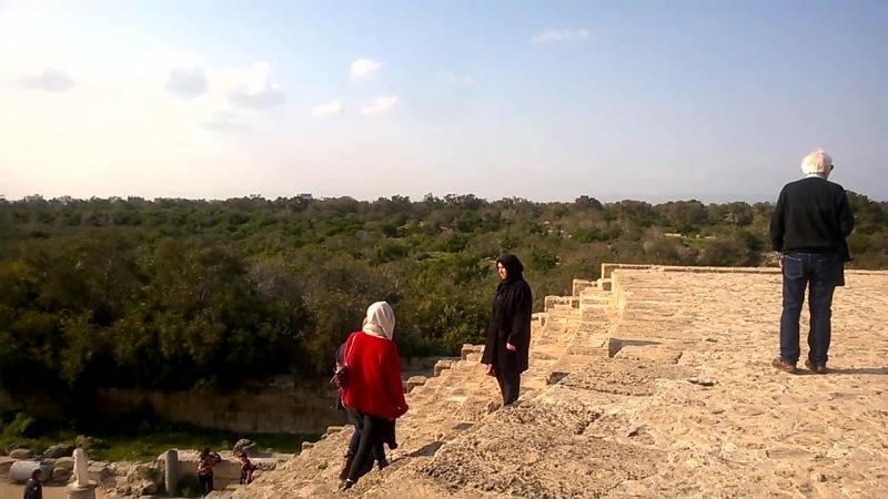Руины античного театра в Саламине. Республика Кипр, Фамагуста, Agios Sergios