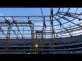 Строительство стадиона в Ростове-на-Дону (09.11.2016)