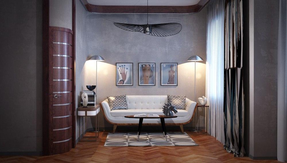 Проект квартиры 37,7 м с выделенной спальней.