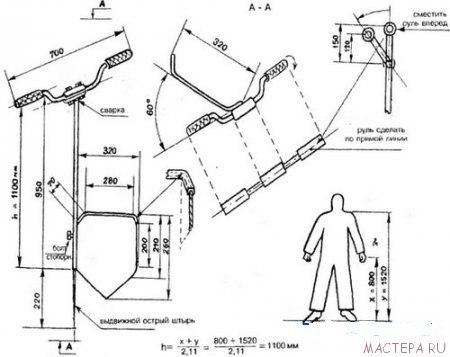 Самодельная чудо-лопата-чертеж