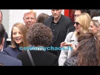 Actress Kristen Stewart arrives with Jodie Foster to star ceremony