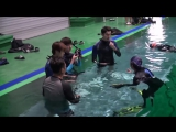 170106 Jin @ Law of The Jungle in Kota Manado Team Safety Education