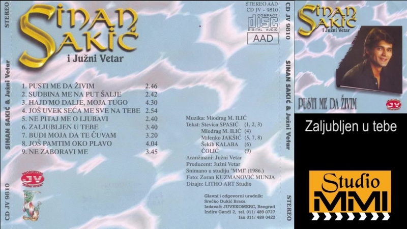 Sinan Sakic i Juzni Vetar - Zaljubljen u tebe (Audio 1986)