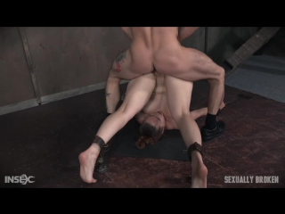 Bella rossi is brutally fucked while bound in a extreme pile driver, huge cock massive orgasms! [bdsm, bondage, all sex]