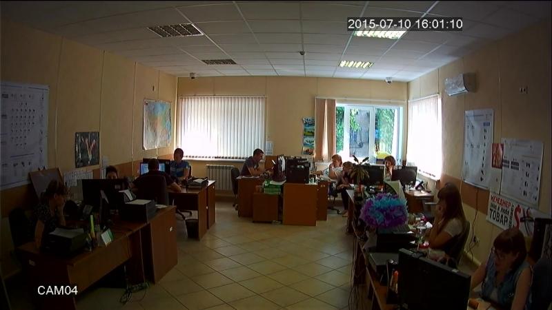 Дневное видео (режим AHD-Н) с купольной AHD камеры на базе модуля 1-2.8 CMOS Sony Exmor IMX222
