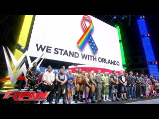 [#My1] WWE stands with Orlando: Raw, June 13, 2016