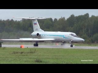 MEGA SOUND ТУ-134 УБ-Л RF-12041 Посадка на мокрую полосу. Кубинка. Армия-2016 11.09.2016