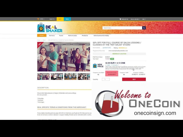 Принцип работы Dealshaker.com от компании Onecoin Onelife