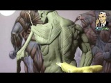 How to Sculpt Ecorche Hercules - Part 54 Left Back Muscles Infraspinatus, Teres minormajor