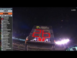 AMA Supercross 2016 East Rutherford 450 Main Event