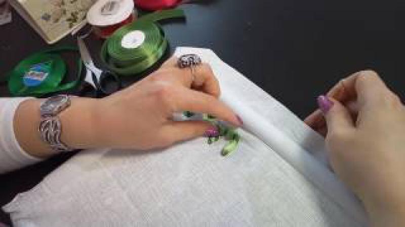 Первые шаги в вышивке лентами