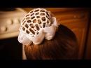 Как сделать прическу Бабетту или Шишку из Пончика ребенку на танцы ★прически на средние волосы