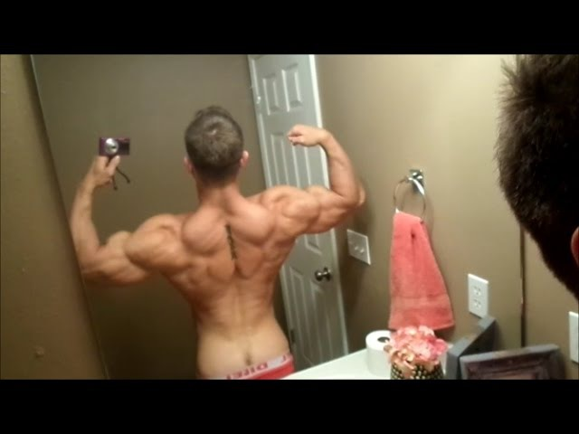 Shit Talking and Hot Cocky Flexing from Muscled Wrestler Steel