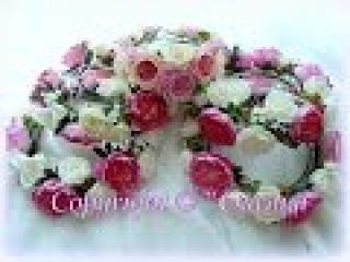 Мк сборки веночка Райский сад из пионов и роз. Фоамиран