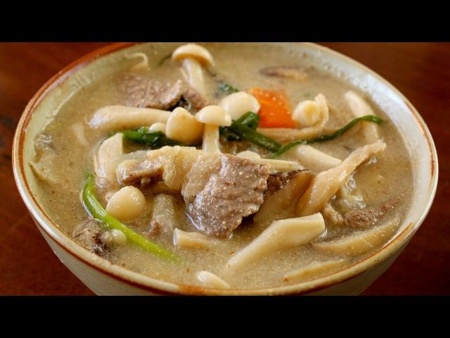 Mushroom soup 버섯들깨탕 Beoseot deulkkae tang