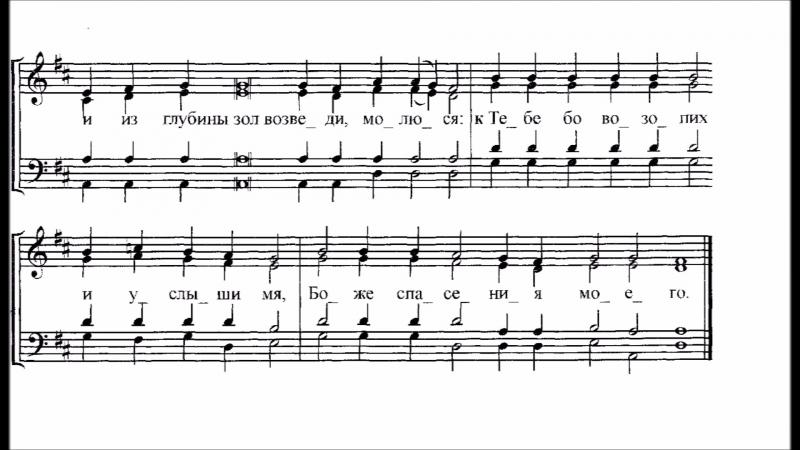Ирмосы воскресные глас 8 обиходный распев