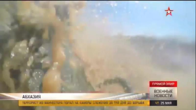 Водители БТР устроили экстремальные гонки по горам Абхазии