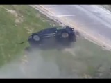 LiveLeak - Pit Maneuver Causes Truck To Roll Over