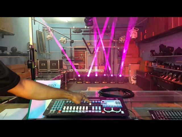 JUN PRO Mini Pearl DMX controller with Sharpy 7R Beam230 stage lightingmalaysia