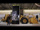 Multi-touch X-ray viewer of new Caterpillar excavator using AMD FirePro W9000 Ventuz software