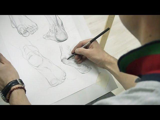 Александр Рыжкин о рисовании ступней