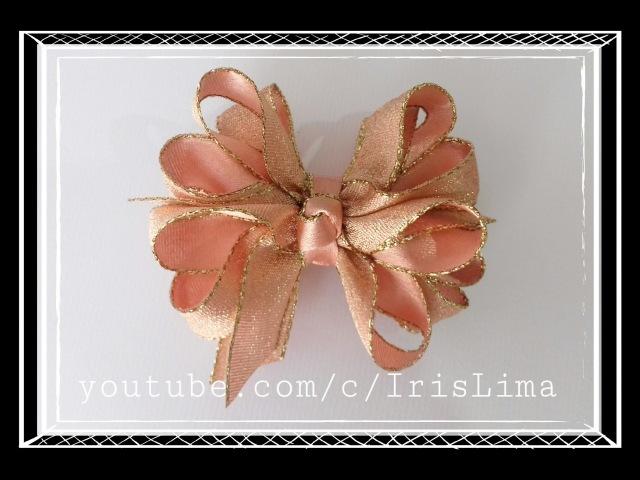 Como Fazer Laço Boutique Duplo com 2 camadas Diy ,Tutorial ,Pap By Iris Lima How To Make a Hair Bow