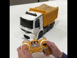 Remote-controlled truck cake complete with a horn