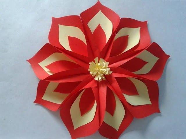 Flor Gigante de Papel Passo a Passo! Decoração Dia das Mães!