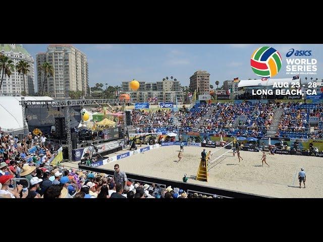 Один из топовых матче на 2016 ASICS WSOBV Long Beach Lucena Dalhausser United States (1) vs. Herrera Gavira ESP