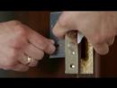 Врезка замка в межкомнатную дверь с минимальным набором инструмента