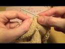 Вязание спицами Азиатский колосок 2 способ Knitting for beginners Asian spikelet