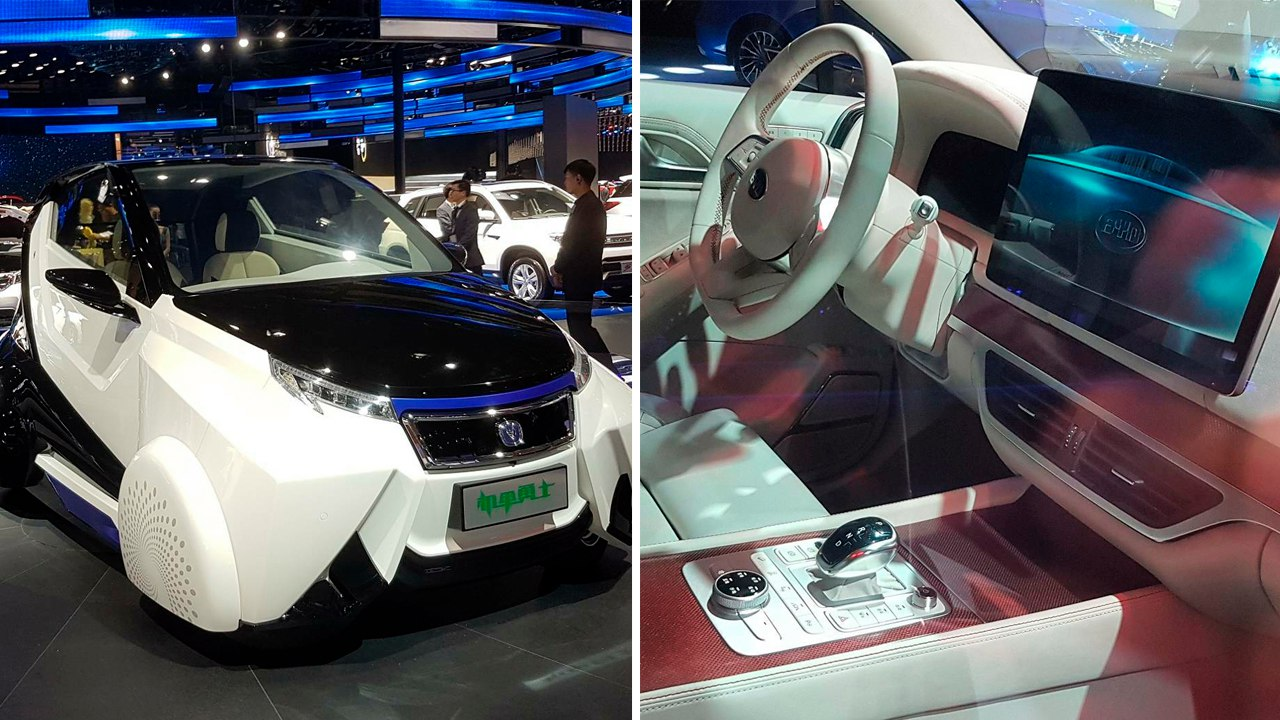 Технотренды в китайских автоновинках в Шанхае