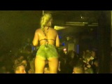 Super sexy hot naked Supermodel on the pole  Paradiso club Chersonissos nightlife  2016