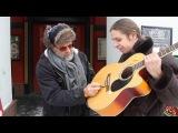 БГ подписывает мне гитару )