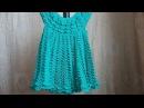 Кружевное платье крючком (ВАРИАНТ 2) / Knitting dress for girls