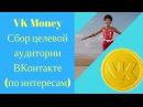 VKMoney Сбор целевой аудитории ВКонтакте по интересам
