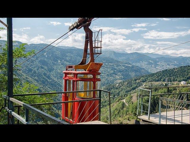 Канатная дорога в Хуло Грузия ფუნიკულიორი ხულოში აჭარა საქართველ