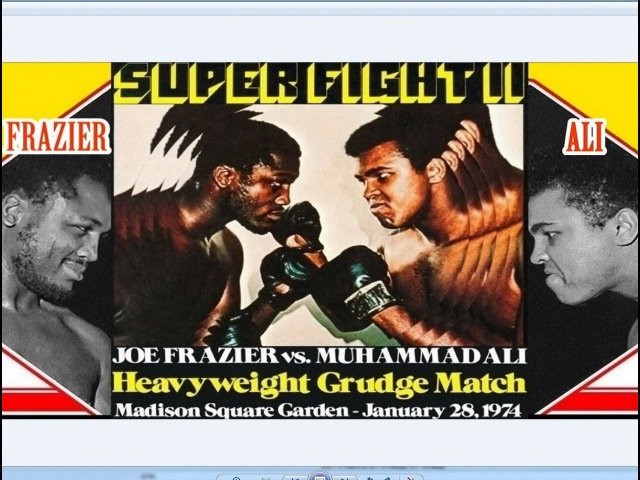 Muhammad Ali vs Joe Frazier II 46th of 61 Jan 1974 SUPER FIGHT II