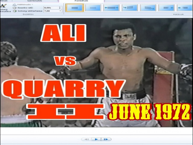 Muhammad Ali vs Jerry Quarry II 38th of 61 June 1972
