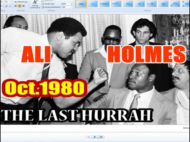 Muhammad Ali vs Larry Holmes 60th of 61 Oct 1980 The Last Hurrah