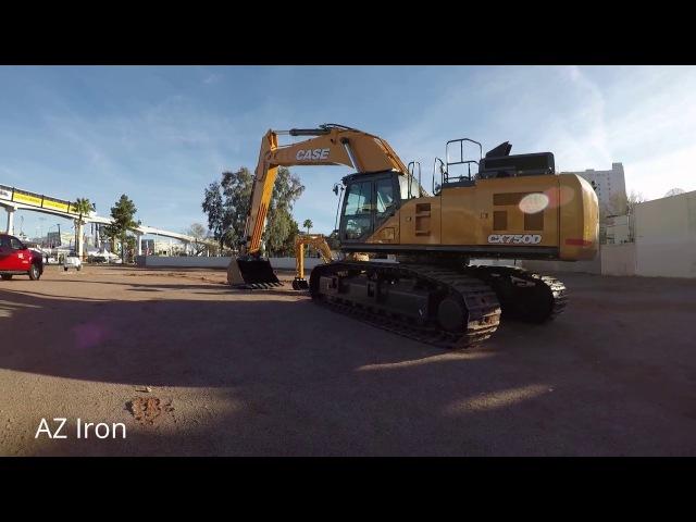 CASE CX750D Excavator at ConExpo 2017
