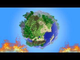 майнкрафт pe как сделать круглую планету #5