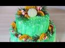 Двухъярусный ☆ Акварельный ☆ Новогодний торт